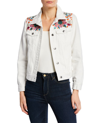 Nena Embroidered Denim Jacket