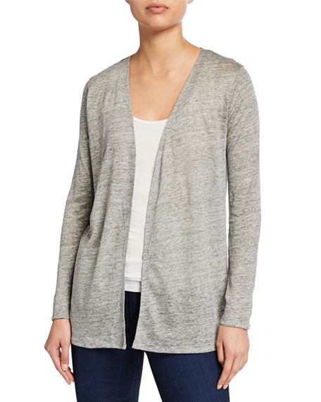 Majestic Filatures Open-Front Long-Sleeve Viscose Cardigan