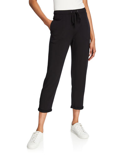 Drawstring Cropped Pull-On Pants