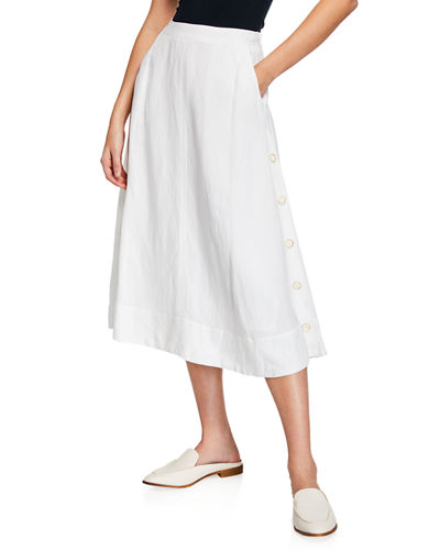 41449ea73fa Quick Look. NIC+ZOE · Front Runner Midi Skirt w  Side Buttons ...