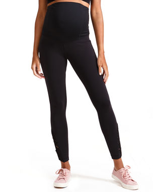 c09ae2483c6 Ingrid   Isabel Maternity Active Ankle-Length Leggings with Macrame Detail
