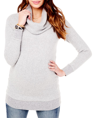 d0c8c7a3b32e Quick Look. Ingrid & Isabel · Maternity Cowl-Neck Sweater Tunic