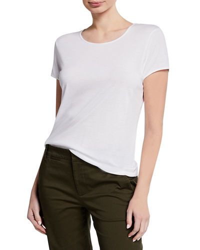 Cotton-Modal Short-Sleeve Crewneck Tee
