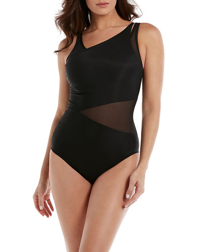 Azura Mesh High-Neck One-Piece Swimsuit