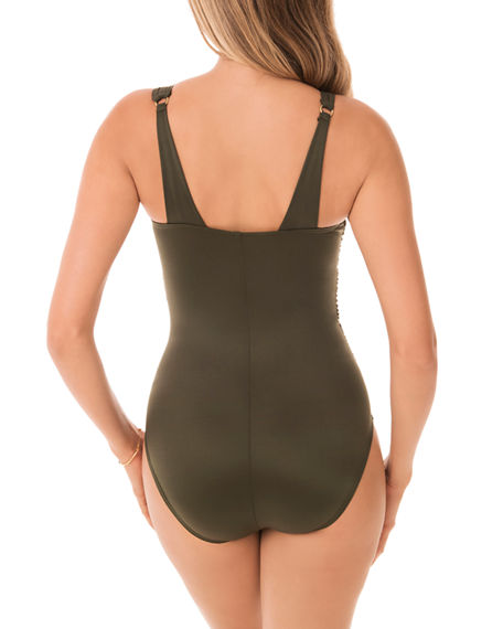 Image 3 of 3: Miraclesuit Azura Mesh High-Neck One-Piece Swimsuit