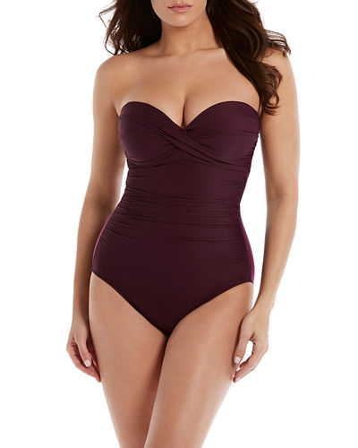 d74465913f7 Quick Look. Miraclesuit · Madrid Ruched Sweetheart One-Piece Swimsuit