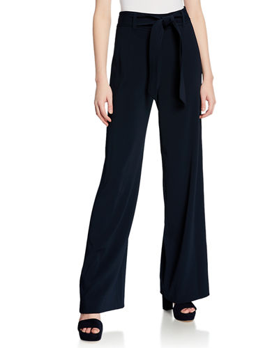 dff8025da1a Quick Look. Badgley Mischka Collection · Tie-Waist Wide-Leg Pants
