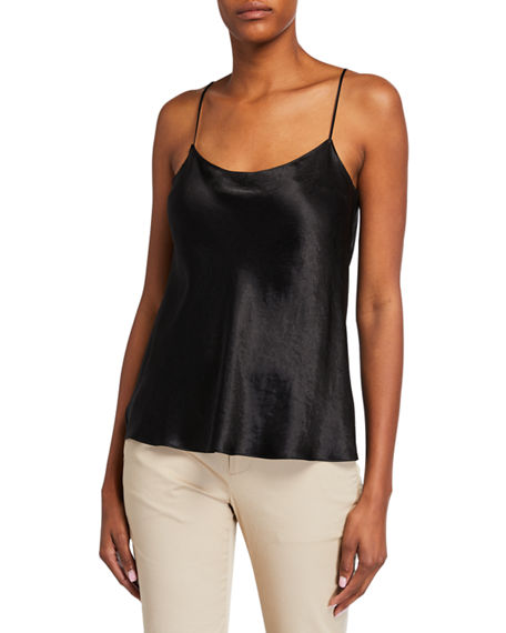 Image 1 of 2: Vince Satin Scoop-Neck Cami
