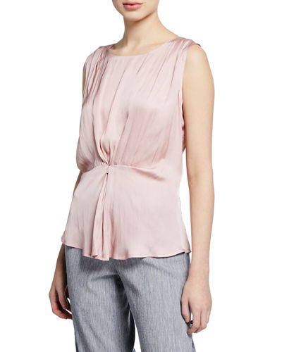 NIC+ZOE Petite Destination Sleeveless Cinched Top