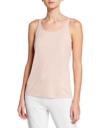 Tencel Interlock Scoop-Neck Slim Tank Top