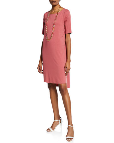 08afeff3f73 Quick Look. Eileen Fisher · Elbow-Sleeve High-Low Jersey Dress