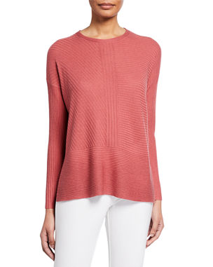 Clothing, Shoes & Accessories Eileen Fisher V-neck Sweater Crisp White Textured Linen Blend M