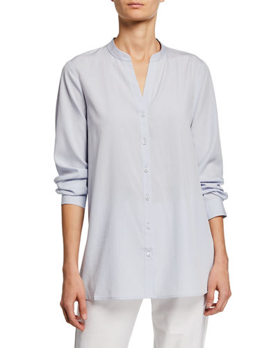 49eaecbb Eileen Fisher Long Sleeve Shirt | Neiman Marcus