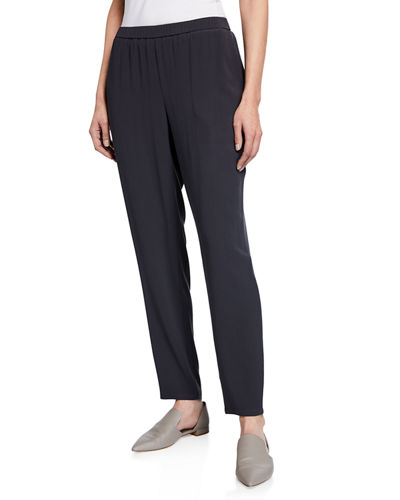 554322d563373 Quick Look. Eileen Fisher · Slouchy Straight-Leg Crepe Ankle Pants