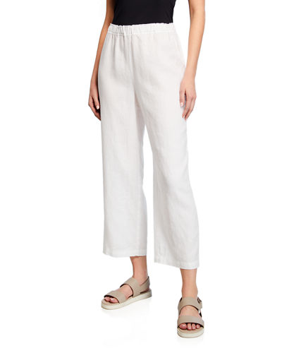 bb2e078d2027a7 Quick Look. Eileen Fisher · Petite Cropped Organic Linen Straight-Leg Pants
