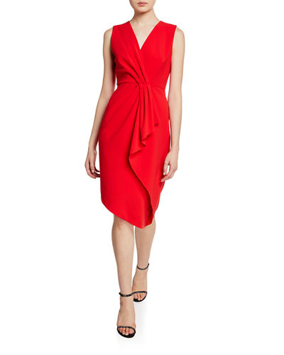 Adrianne V-Neck Sleeveless Asymmetric Cocktail Dress