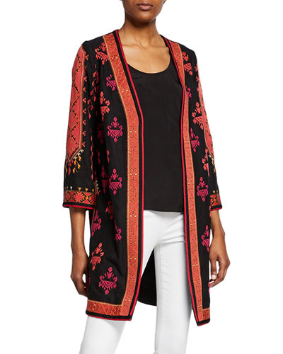 Rowen Embroidered Tapestry Coat