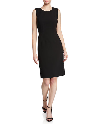 Nara Sleeveless Sculpted Twill Dress