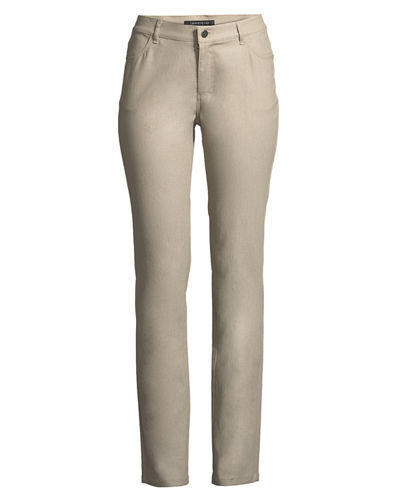 Lafayette 148 New York Thompson Frosted Denim Slim-Leg Jeans