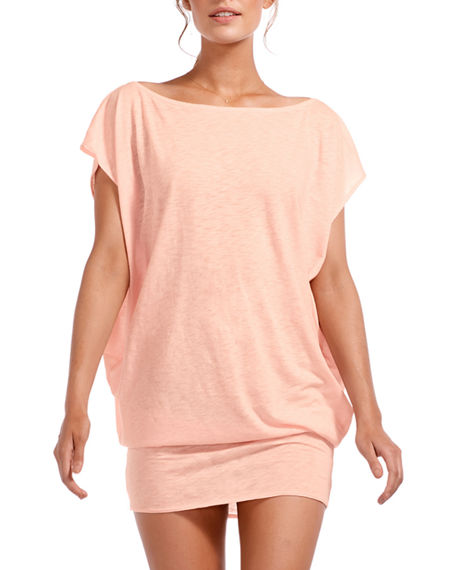 Vitamin A Ella Tie-Back Cotton Coverup Tunic