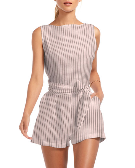 Vitamin A Martinique Linen Wraparound Romper