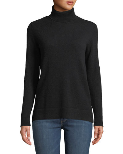 16b0138ed27 Quick Look. Neiman Marcus Cashmere Collection · Modern Cashmere Turtleneck  Sweater. Available in Black