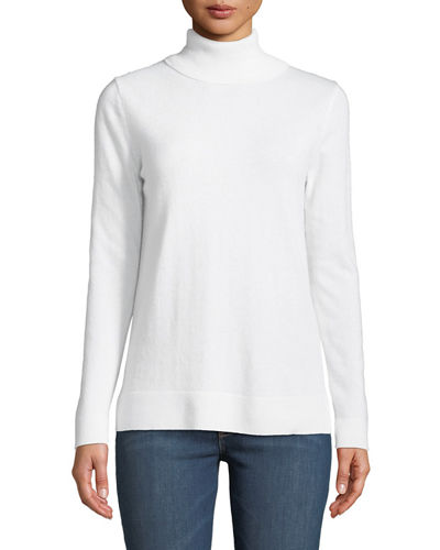 8d3d41e030b Quick Look. Neiman Marcus Cashmere Collection · Modern Cashmere Turtleneck  Sweater. Available in White
