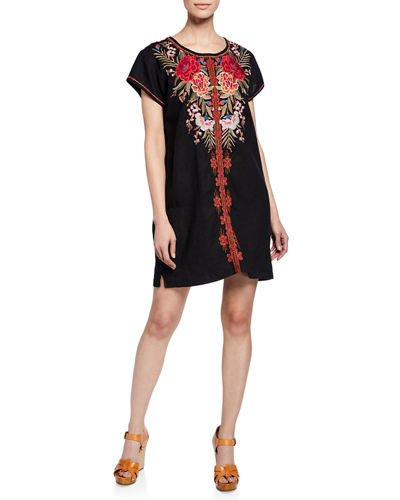b8ba3ad46ca Black Imported Embroidered Dress