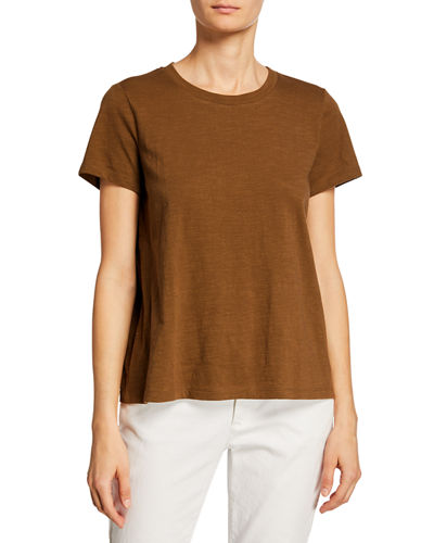 Petite Crewneck Short-Sleeve Organic Cotton Tee