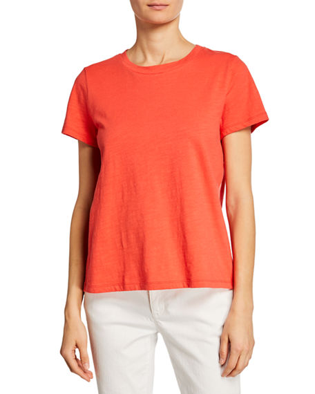 Eileen Fisher Cottons PLUS SIZE CREWNECK SHORT-SLEEVE ORGANIC COTTON TEE