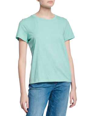 c46d7e26 Eileen Fisher Crewneck Short-Sleeve Organic Cotton Tee