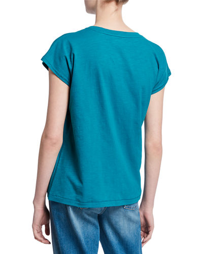 Eileen Fisher Organic Cotton Crewneck Short-Sleeve Boxy Tee
