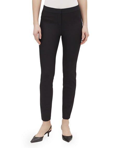 Lafayette 148  TRIBECA ACCLAIMED STRETCH PINTUCKED SKINNY-LEG PANTS