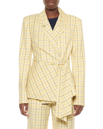 Marvel Plaid Suiting Wrap Jacket