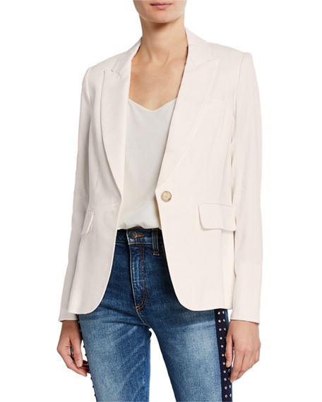 Image 1 of 3: Veronica Beard One-Button Cutaway Jacket