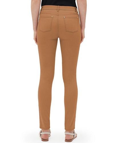 Lafayette 148 New York Mercer Primo Stretch-Denim Mid-Rise Skinny Jeans