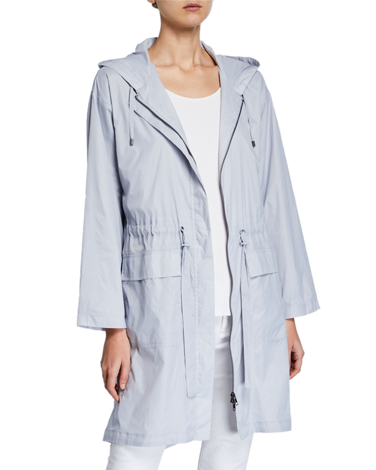 Eileen Fisher Long Hooded Jacket