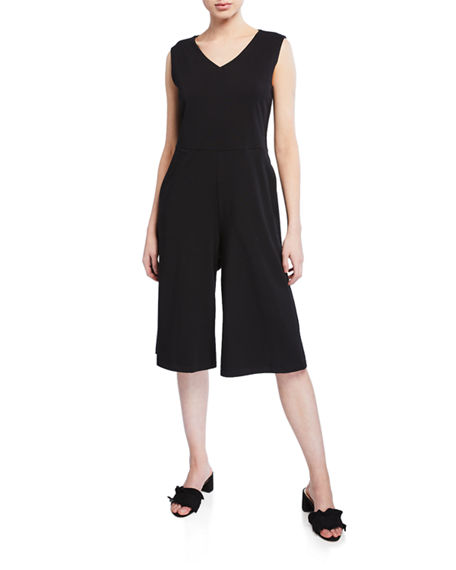 Eileen Fisher Suits CROPPED WIDE-LEG COTTON JUMPSUIT