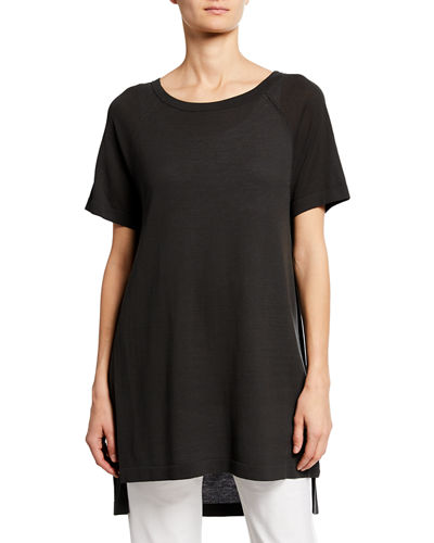 Petite Scoop-Neck Short-Sleeve Tunic
