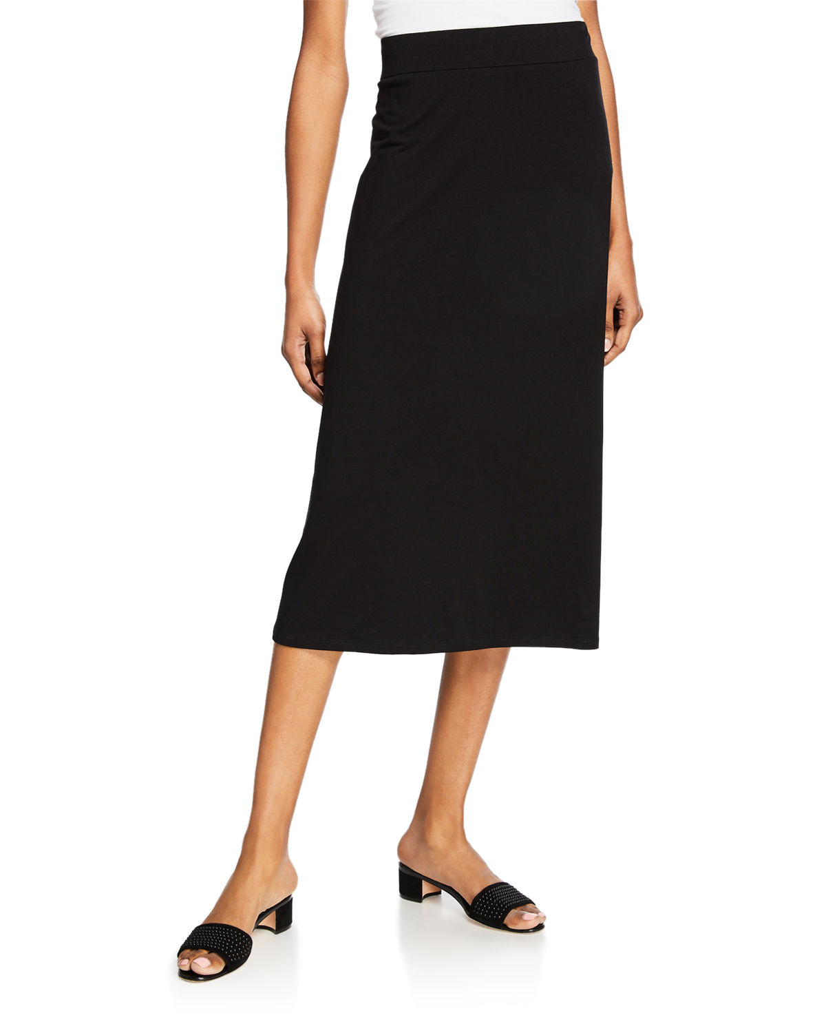 8352636ab7 Eileen Fisher Plus Size Jersey A-Line Midi Skirt | Neiman Marcus