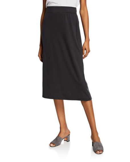 Eileen Fisher Skirts PETITE JERSEY A-LINE MIDI SKIRT
