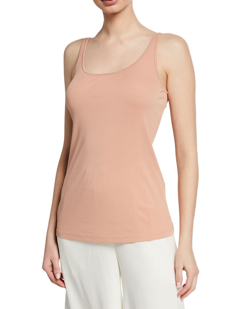 Eileen Fisher Petite Tencel Interlock Scoop-Neck Slim Tank Top