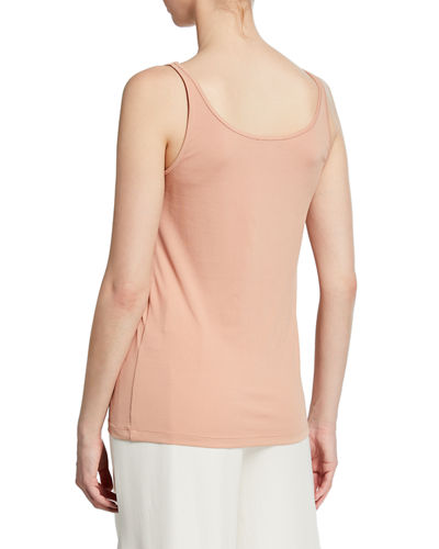 Eileen Fisher Plus Size Tencel Interlock Scoop-Neck Slim Tank Top