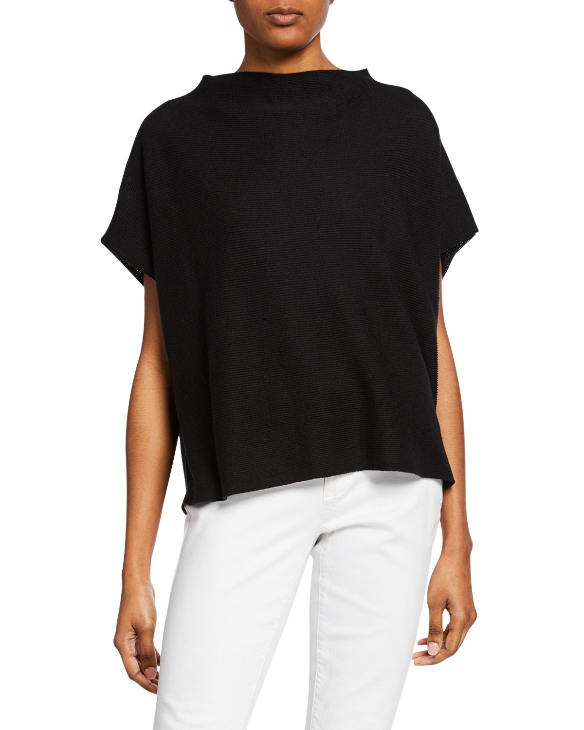 Eileen Fisher Sweaters PLUS SIZE FUNNEL-NECK OVERSIZED SWEATER