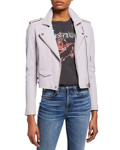 Ashville Cropped Leather Jacket