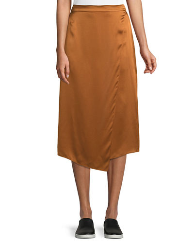ee686c01a Quick Look. Vince · Draped Panel Silk Midi Skirt
