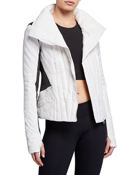 Blanc Noir Jackets Motion Paneled Puffer Jacket