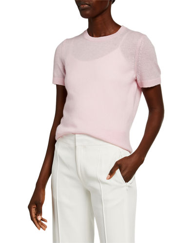 Basic Short-Sleeve Cashmere Tee