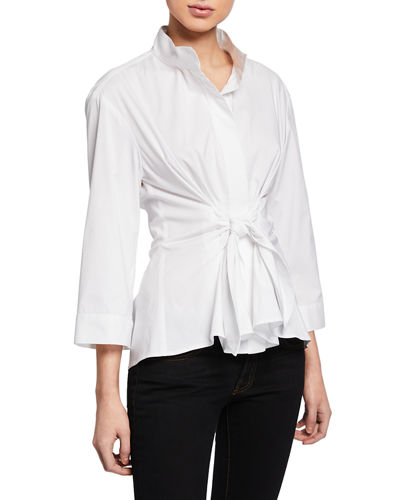 Rocky Tie-Front Placket Shirt