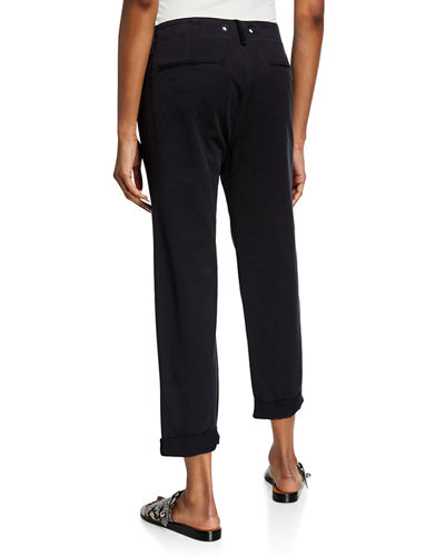 Rag & Bone Buckley Cropped Mid-Rise Chino Pants